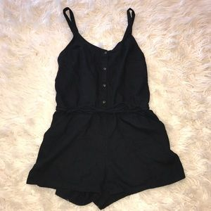 Adorable black summer Romper